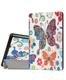 Butterfly Flip Cover Case for Fire HD 8